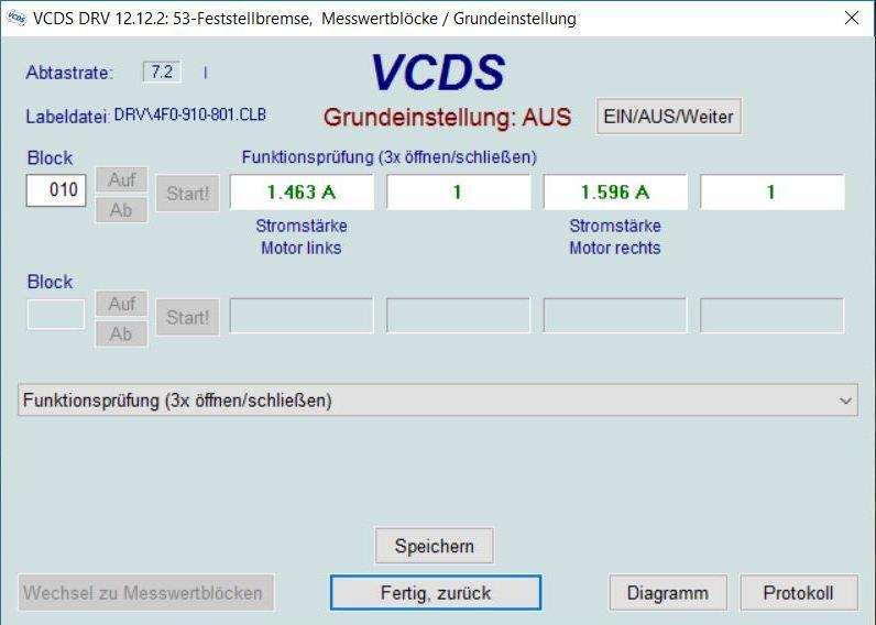 bremsenwartung bei elektrischer parkbremse | vcds – masu.de
